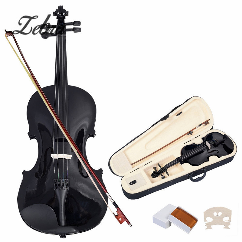 Zebra 4/4 Violin Natural Acoustic Basswood Face Board Faddle Violin with Case Box Rosin Bow For Musical Stringed Instruments full size 4 4 solid basswood electric acoustic violin with violin case bow rosin parts accessories for musical instruments lover