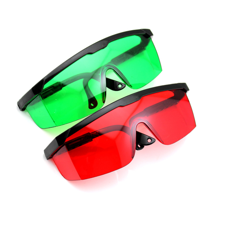 2pieces/LOT Red Lens And Green Lens Laser Glasses Laser Safety  Goggles
