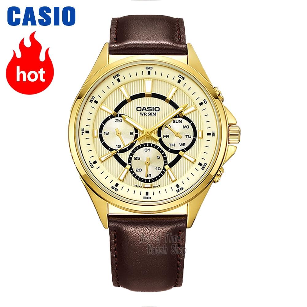 ce21c5465c9 Casio relógio Analógico de Quartzo dos homens Sports Watch Moda Casual Do Vintage  Relógio À Prova D  Água MTP E303 em Relógios de quartzo de Relógios no ...