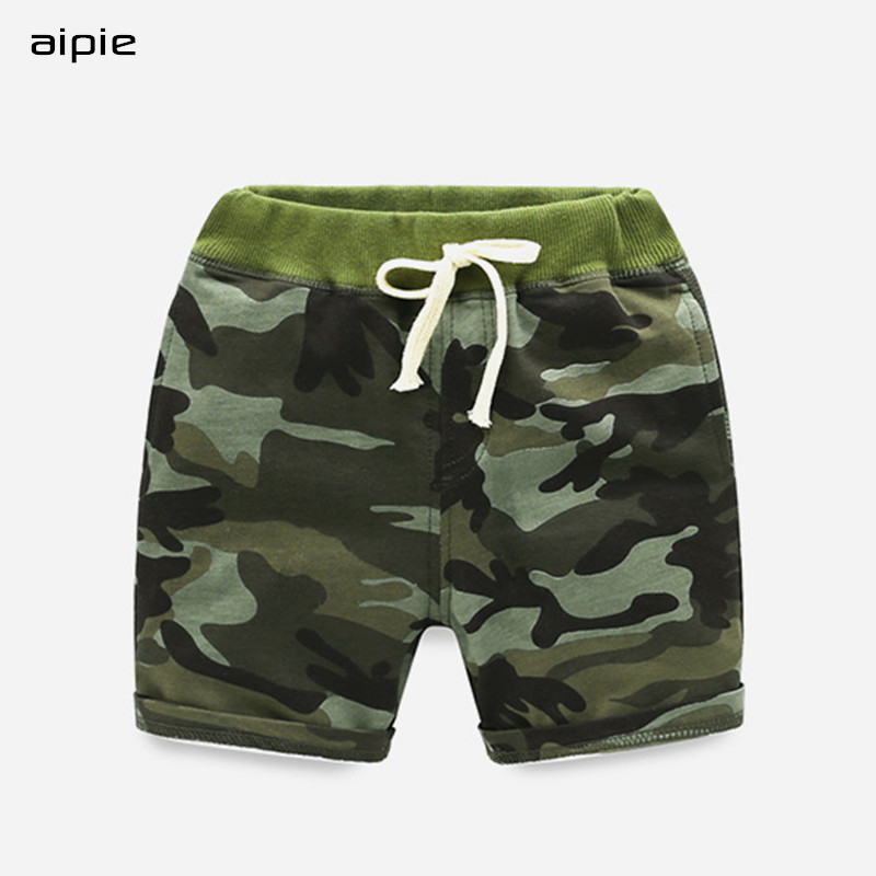 Promotion New 2018 Children Boys   Shorts   Printing Camouflage Casual Straight Elastic Waist Kids   Shorts   For 3-10 Years wear
