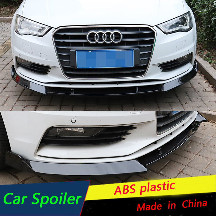 Fits 2008-2012 Audi A5 Base B8 MX Style ADD-ON Front Bumper Lip Spoiler Chin PU
