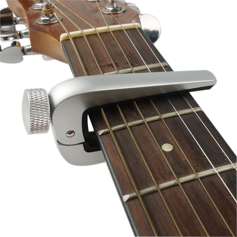 Guitar Capo Hight Quality Grade Alloy Metal Knob Silicone Protection Pad Capo for Classical Acoustic Electric Guitar  Ukulele alloy classical guitar capo black silver