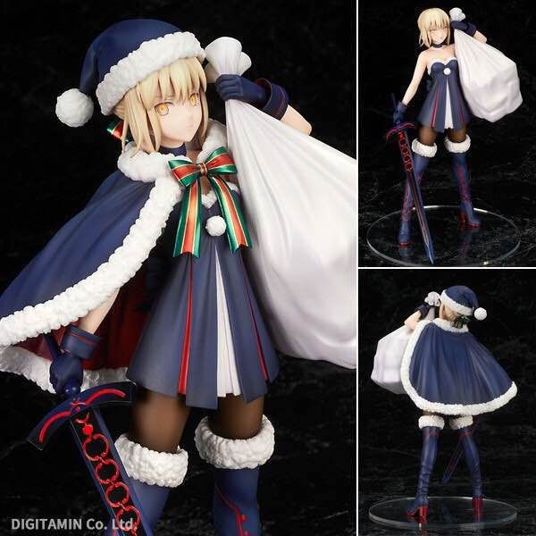 NEW hot 23cm Fate/stay night Saber Arturia Pendragon Christmas installed action figure toys collection Christmas gift with box le fate топ