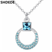 SHDEDE Crystal From Swarovski Fashion Necklaces Pendants For Women Charm Wedding Jewelry Gifts Wholesale 24504
