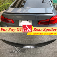 For BMW F10 Carbon Fiber Style Trunk Spoiler Wing M5 look 5 series 520i 525i 528i 535i 550i wing rear P style 2014-2017