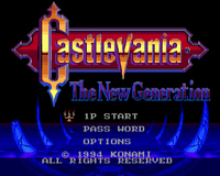 Castlevania The New Generation For Sega Genesis 1