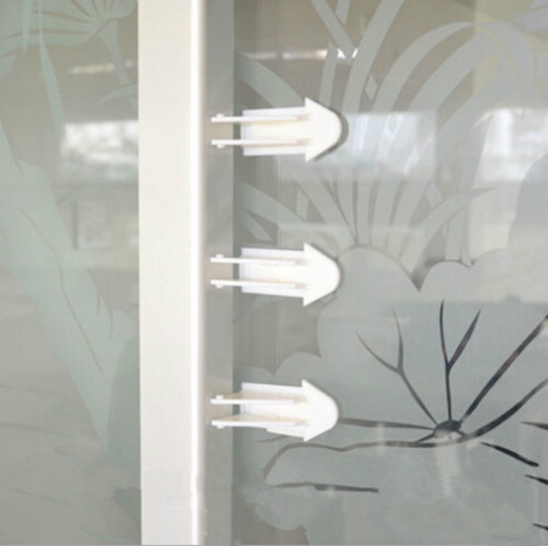 Safety Lock Child Protecting Sliding Baby Kids Adhesive Window Door Child Locks Safety Move Sliding Cabinet  Child Safety Lock