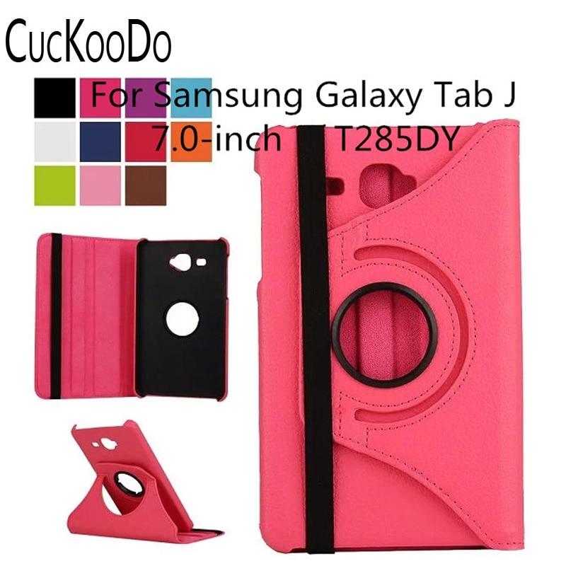 b3126dc5ab CucKooDo Per Samsung Galaxy Tab J T285DY, 360 Girante Del Basamento Della  Copertura Della Cassa Astuta per Samsung Galaxy Tab J 7.0 pollici SM-T285DY  Tablet
