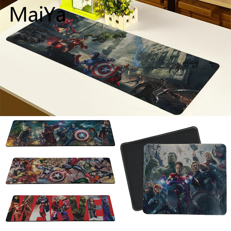 Maiya High Quality Marvel Avengers War Superheroes Rubber PC Gaming Mousepad Free Shipping Large Mouse Pad Keyboards Mat