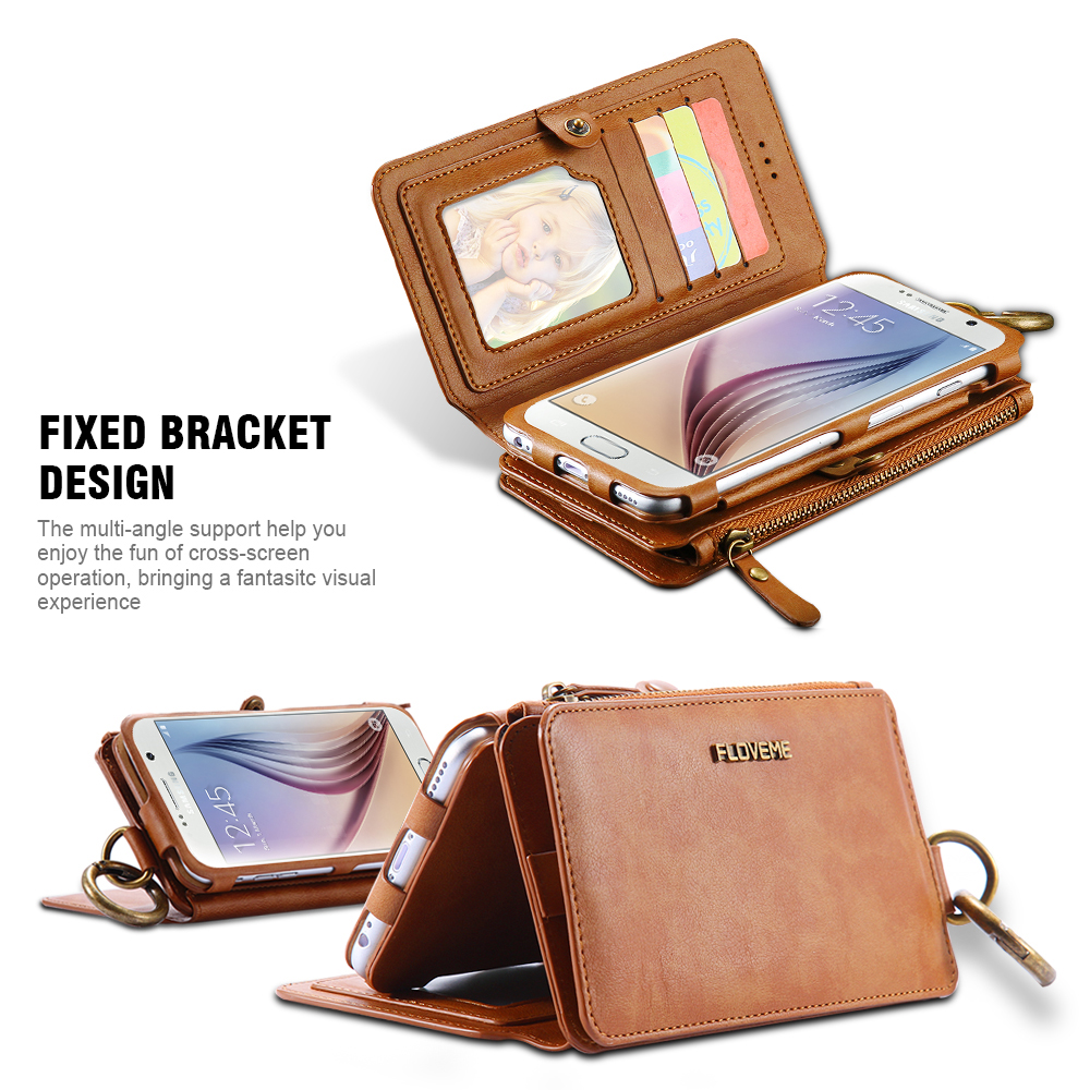 Leather Wallet and Card Phone Bag Case 2