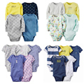 Conjunto de Roupas de bebê 4pcs-Pack e 6pcs-Pack Bodysuit para Bebes Meninos e Meninas de carter Bodysuit Macacão de Algodão do bebê set