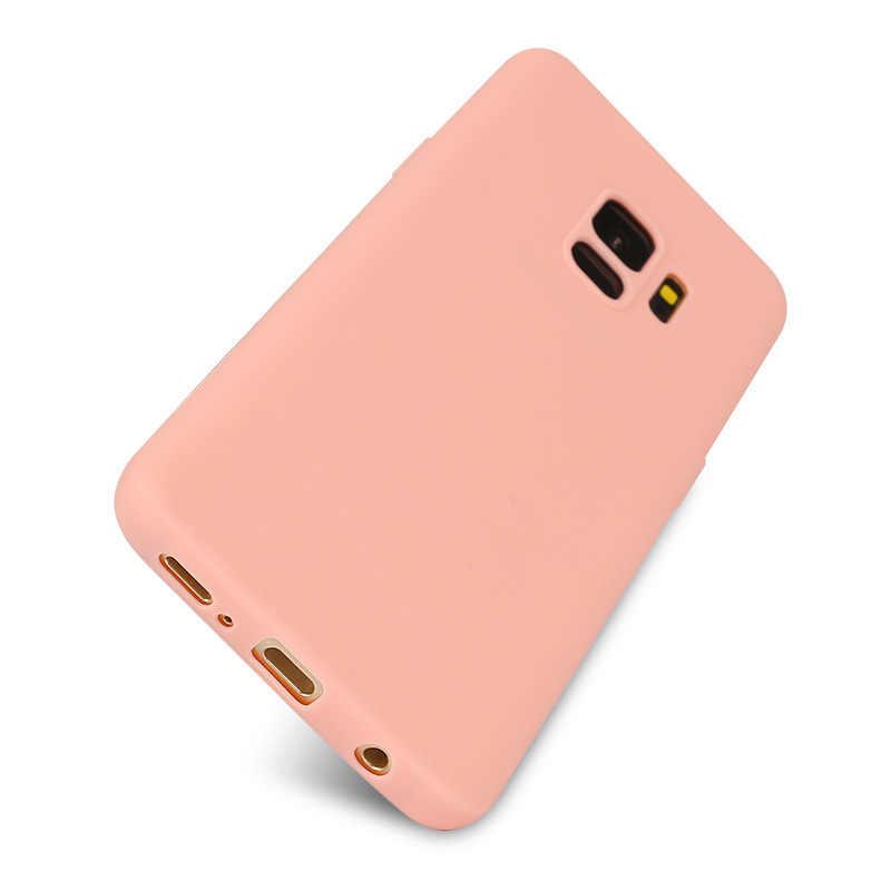 TPU Case For Samsung Galaxy A7 2018 J4+ J6 EU J3 J5 J7 2016 A3 A5 A7 2017 A6 A8 2018 S6 S7 Edge S8 S9 Plus Flower Matte Cases