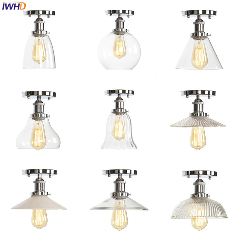 IWHD LED Ceiling Light Vintage Nordic Ceiling Lamp Industrial Living Room Light Fixture Home Lighting Plafonnier Lampa Sufitowa