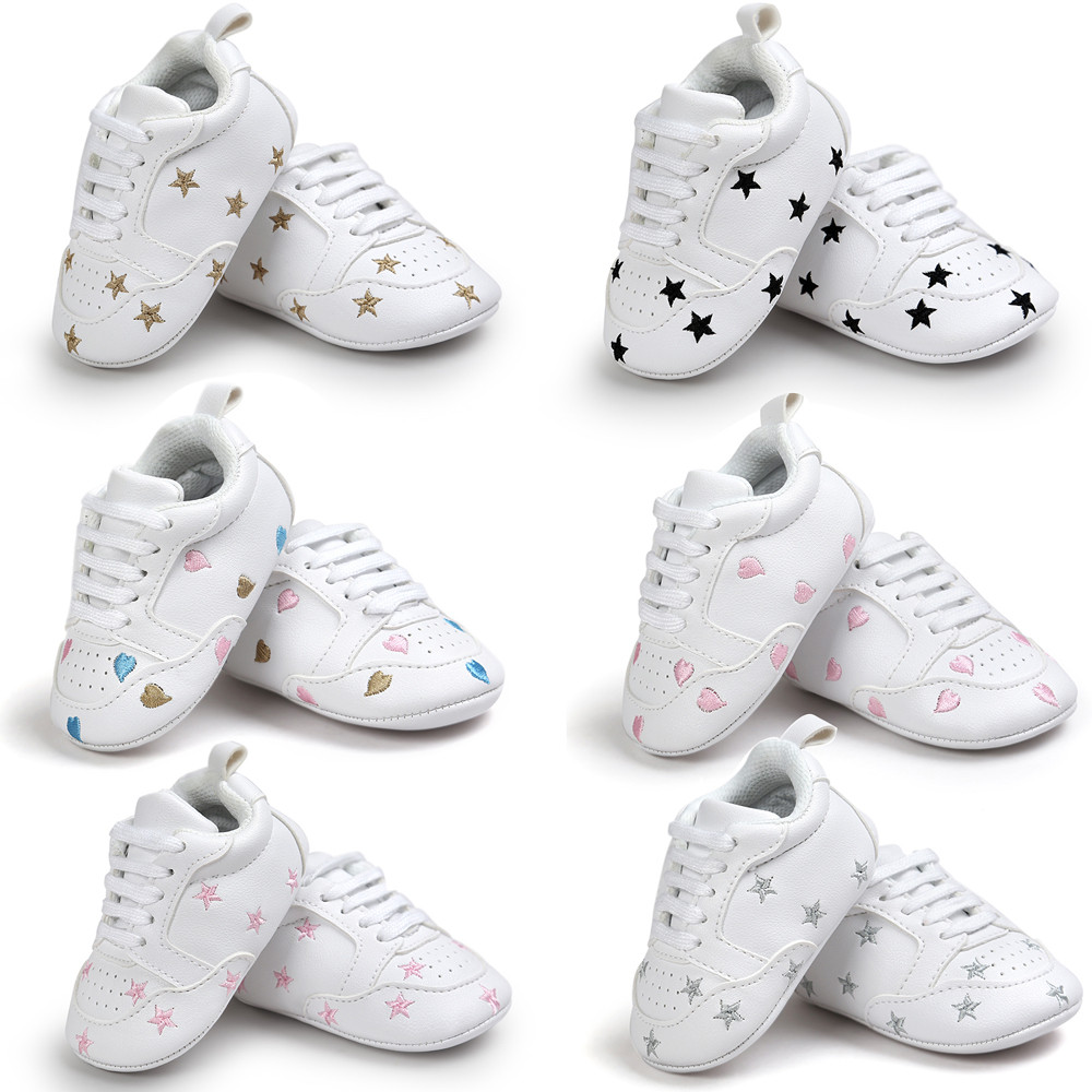 Sneakers Toddler Bandage Star Baby Soft Personality Fashion Strap Casual ROMIRUS Embroidery