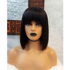Image 5 - 613 Rechte Blonde Bob Lace Front Pruiken Braziliaanse Korte Pixie Cut Lace Front Menselijk Haar Pruiken Met Pony Voor Zwarte vrouwen Remy