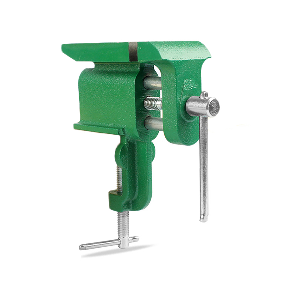 Multifunctional Jewelers Hobby Clamp On Table Bench Vise Mini Hand Tool Vice Clamp-On Bench Vise with Large Anvil image