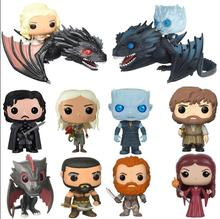 2019 Funko POP Anime Song Of Ice And Fire Game Of Thrones PVC Movie Action Figure Collectible Model Toys 2019 new movie game of thrones anime figure viserion ice dragon pvc action figures collection model toys doll gift