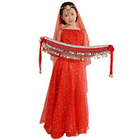 New Arrival Girls Kids Belly Dancing Clothing Indian Dance Suits Children Oriental Dance Costumes Set Solid