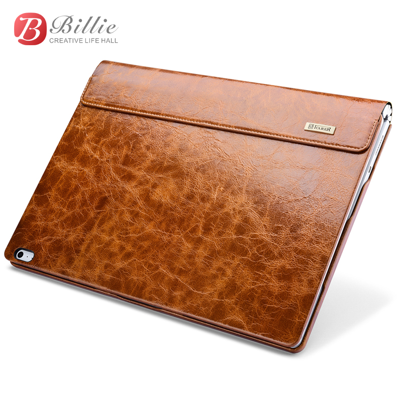 все цены на Oil Wax Vintage Cowhide Genuine Leather Case For Microsoft Surface Book 2 13.5