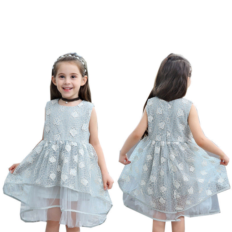 Toddle Kids Girls Lace Princess Party Dress Birthday Wedding Prom Tutu Dresses Children Clothes Top Quality Popular
