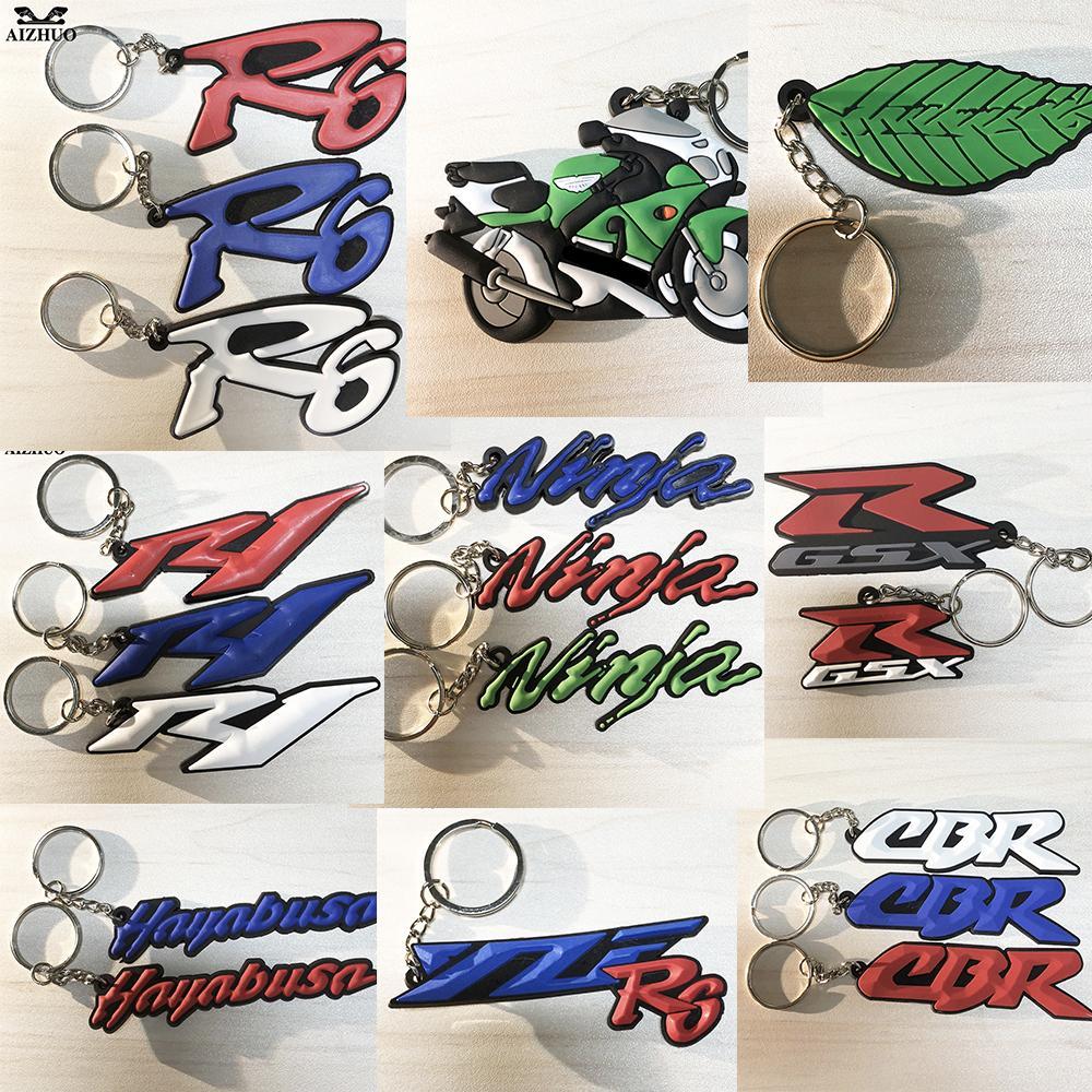 Motorcycle Key Chain Keyring Soft Rubber Motorcycle Key Ring FOR HONDA CBR YAMAHA YZF R1 R6 KAWASAKI NINJA SUZIKI HAYABUSA GSXR