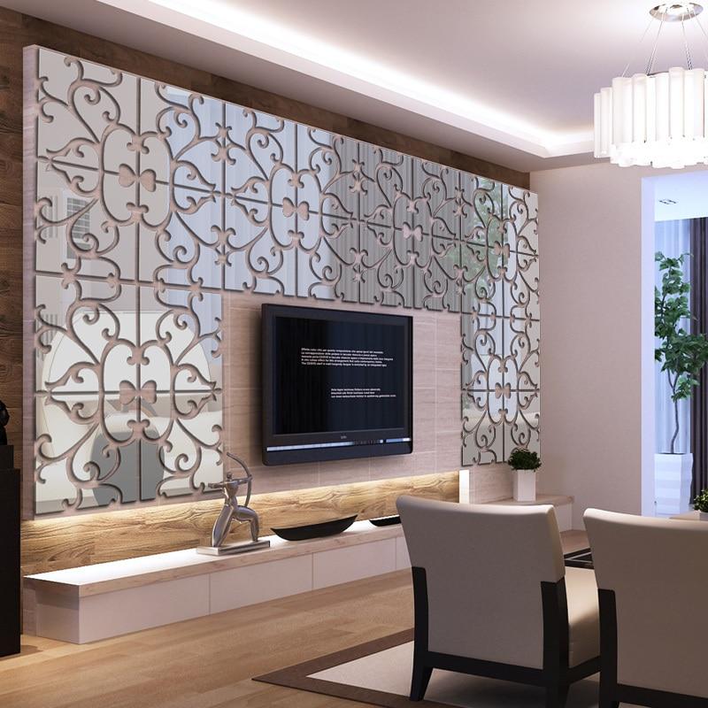 New 3D Mirror Wall Stickers Acrylic Sticker Adesivo De Parede Home