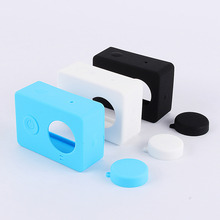 Защитным yi силиконовой резины объектива корпус камера случае красочные xiaomi кожа