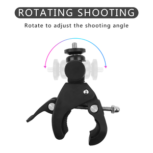 Image 2 - Bicycle Camera Mount 360 Rotation Stand Tripod Adapter For GoPro Cameras Motorcycle Mountain Bike Handlebar Camera Holder