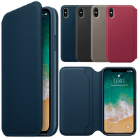 For Apple IPhone X Case Flip Cover With Logo 1 1 Original PU Leather Smart Wallet