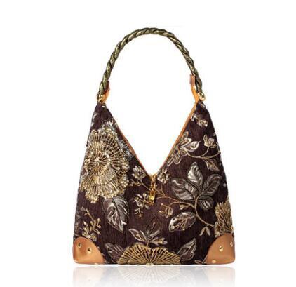 8e5abb22c53bc US $34.93 |Vintage velvet Beaded women handbag embroidery Flowers Evening  Bag Diamond Sequined ladies Clutch Hand Bag shoulder Bag 6 colors-in ...