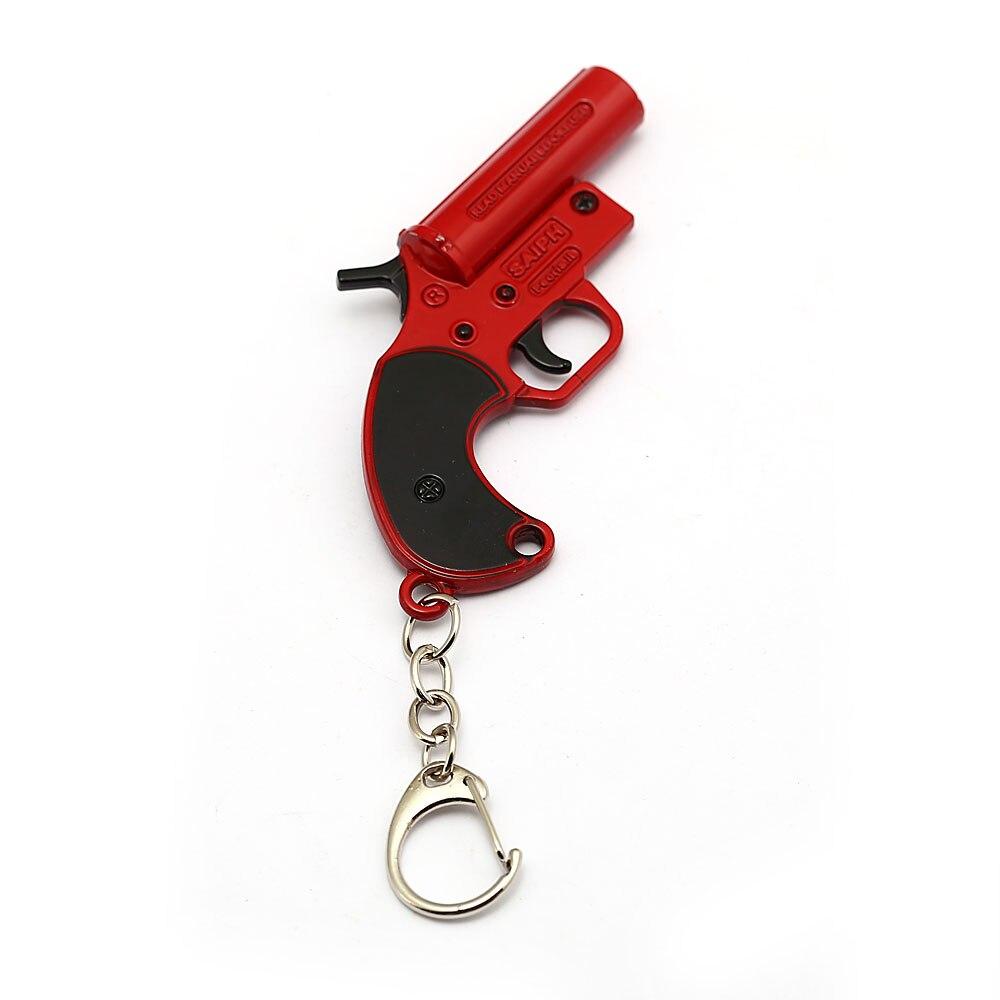 Hot Sale Xowshine Game Key Chains Signal Flare Gun Medel Pubg Holder