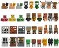 36 unids/lote Nuevo! Minecraft Creeper Caracteres Más Percha Modelos de Colección de Juegos de Juguetes Figura de Acción Juguetes Lindo 3D Minecraft # F