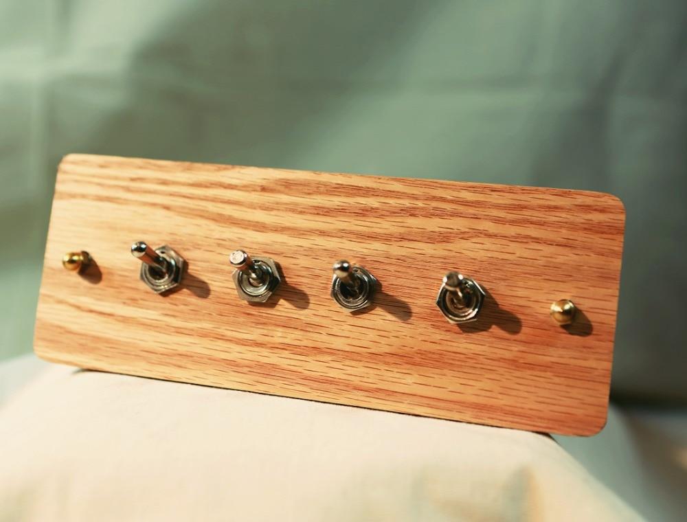 цена на Type 118  Wall Switch  panel Retro Wood  Four Control  Two  Way   6A  110V- 250V