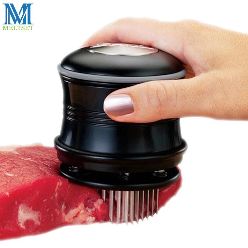 Stainless Steel Meat Hammer Pin Tender Needle Kitchen Cook Steak Tenderizer Tool