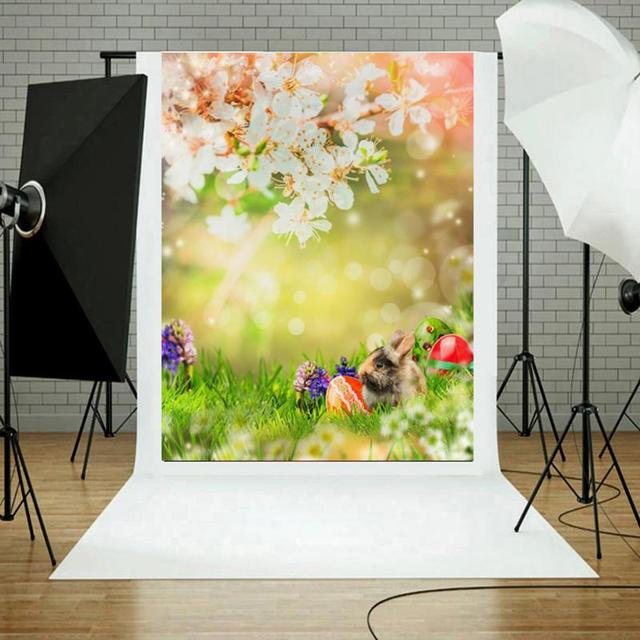 Photography Background Fabric Easter Eggs Rabbit Backdrop Art Cloth ...