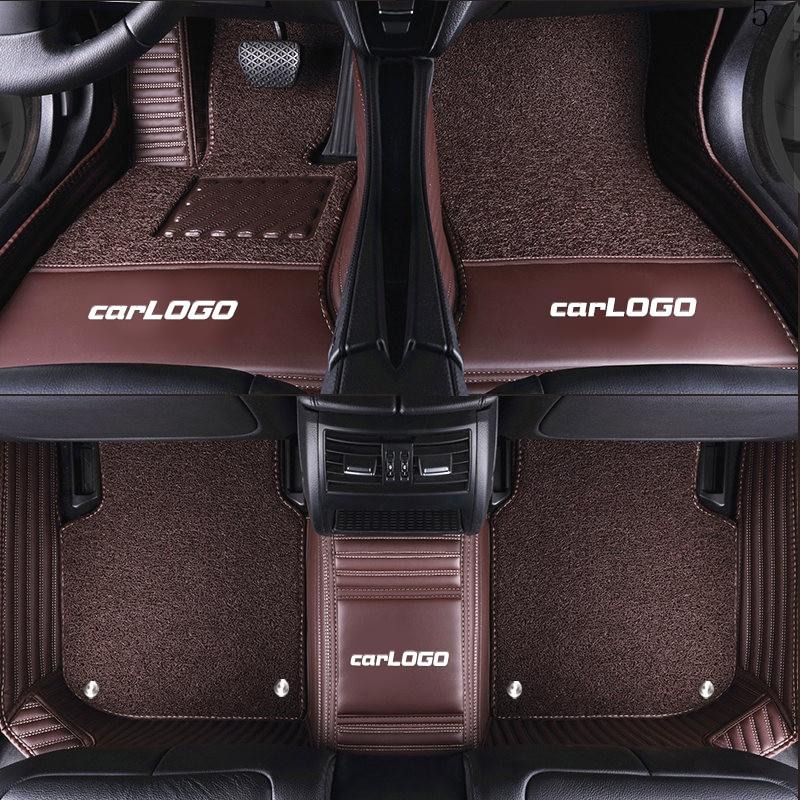 Luxury Custom Car Floor Mats With Car Logo For Mini Cooper