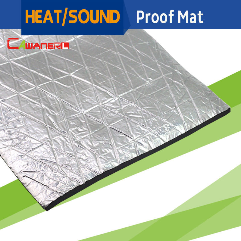 Cawanerl 10cm x 100cm 4 x 40 car heat shield sound noise for Sound insulation glass