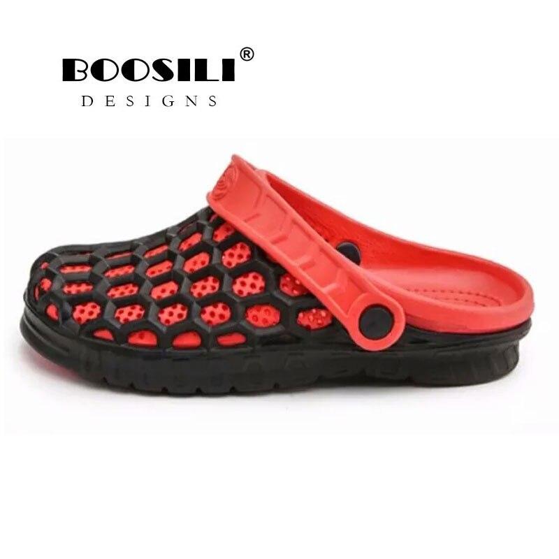 2019 Echt Verkauf Herren Leder Sandale Boosili Männer Cave Schuhe Sommer Sandalen Hohe Qualität Atmungsaktive Holzschuhe Leichte 4 Farben