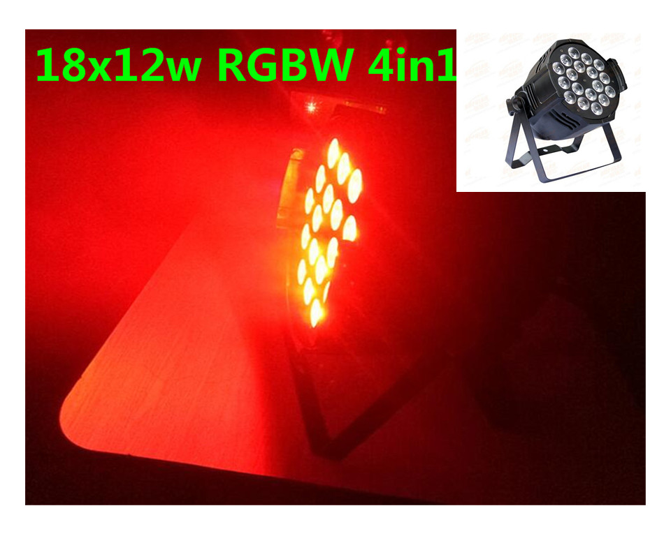 Aleacion de aluminio LED par 18x12 W RGBW 4in1 LED Par Can dj Par64 projecteur proyector lavage iluminacion luz de la etapa luz