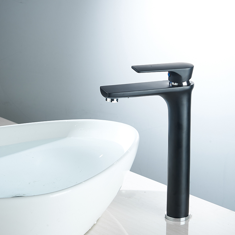 Modern Bathroom High Basin Faucet Black Oil Rubbed Single Handle Deck Mounted Faucet Hot And Cold Water Mixer Sink Tap 88311A xoxo modern bathroom products chrome finished hot and cold water basin faucet mixer single handle water tap 83007