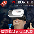 """Caixa de 2.0 óculos de realidade virtual 3d google papelão vr vr caixa 2.0 ii óculos para 4 """"-6"""" smartphone + bluetooth controle remoto"""