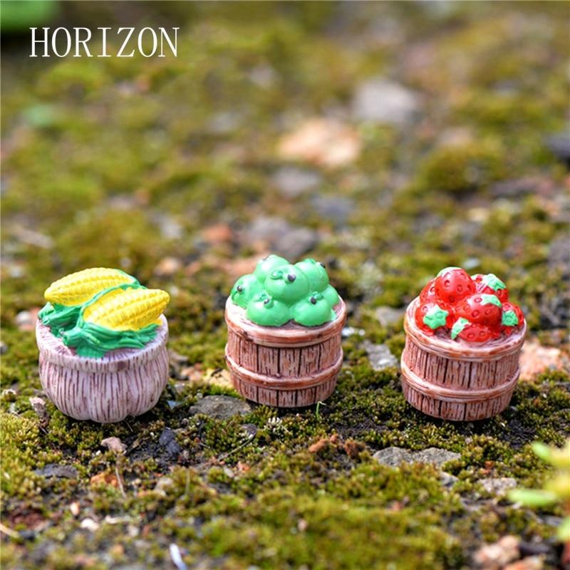 Gnome In Garden: 3Pcs/set Apple Strawberry Corn Fruit DIY Resin Fairy