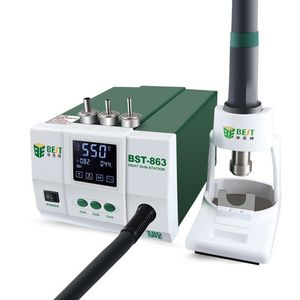 Image 2 - Lead free Adjustable Hot Air best 863 Rework Station Soldering Touch Screen LCD 1200W 220V For Phone CPU PCB