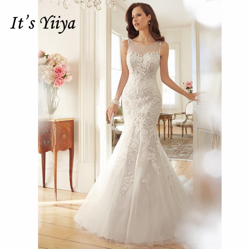 Robe de mariée sans manches en mode sirè ...