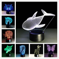 2017 Creative Gifts Animal Lamp 3D Visual Led Night Lights Touch USB Table Lampara Besides Lampe Baby Sleeping Novelty Light