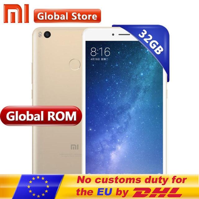 Оригинал Сяо Mi Ми Max2 Max 2 4 ГБ 32 ГБ мобильный телефон Snapdragon S625 Octa core 5300 мАч 6.44 дюймов 1920*1080 12.0MP + 5.0MP