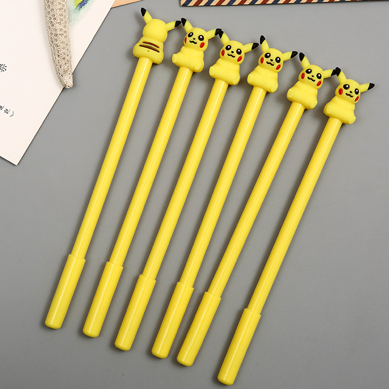1pc Cute Yellow Gel Pen Promotional Gift Stationery School Office Supply Birthday Gift Material Kawaii
