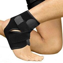 1 шт. безопасный с поддержкой лодыжки для спортзала, защита для бега, черный эластичный бандаж на щиколотку, защитная полоса, спортивный ...