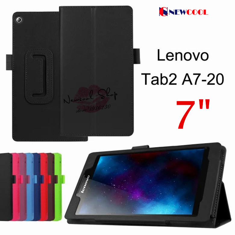 Litchi Grain Leather Case Stand Flip Cover for lenovo Tab2 Tab 2 A7 A7-20 A7-20F 7.0 inch Tablet Case Bag Shell +Gift for lenovo tab 2 a7 30 2015 tablet pc protective leather stand flip case cover for lenovo a7 30 screen protector stylus pen