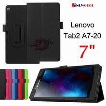 Личи Зерна Кожа Case Стенд Откидная Крышка для lenovo Tab2 Tab 2 A7 A7-20 A7-20F 7.0 дюймов Tablet Case Мешок Оболочки + Подарок